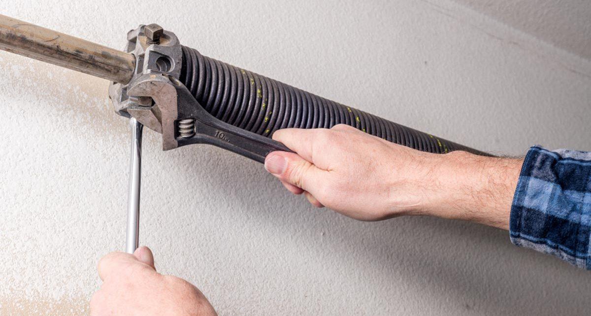 Garage door opener spring repair